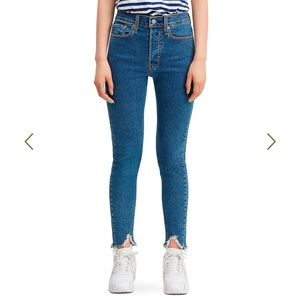 Levi's NWT Wedgie Skinny High Rise Jeans Sz 30
